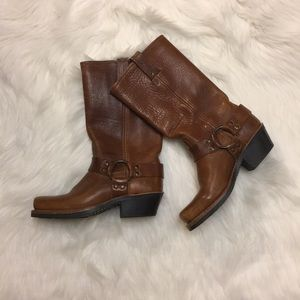 Frye cognac colored boots (Harness)